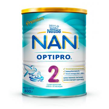 Молочная смесь NanМолочная смесь Nan 2 BL OPTIPRO 400 г, возраст 3 ступень (6-12 мес). Проконсультируйтесь со специалистом. Для детей от 6 мес<br><br>Возраст: 3 ступень (6-12 мес)