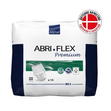 Трусики AbenaТрусики Abena Abri-Flex M1 объем 80-110 см впитываемость 1400 мл (14 шт), в упаковке 14 шт.<br><br>Штук в упаковке: 14