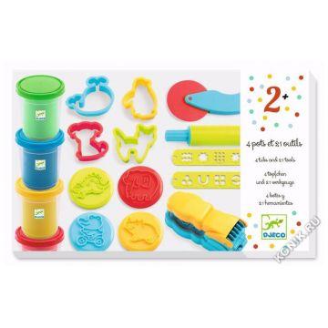 Набор для творчества DjecoНабор для творчества Djeco Пластилин 09755, возраст от 3 лет<br><br>Возраст: от 3 лет