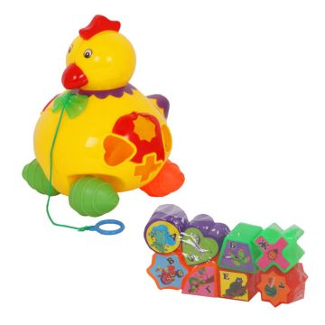 Игрушка каталка ZHORYAИгрушка каталка ZHORYA Цыпленок ZY114924/R818A, возраст от 3 лет<br><br>Возраст: от 3 лет