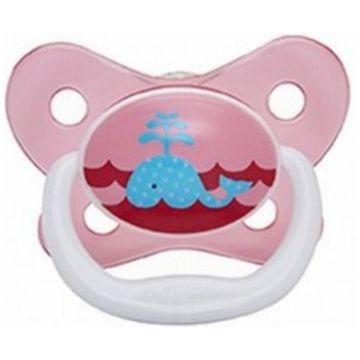 Пустышка Dr.BrownsПустышка Dr.Browns силиконовая ортодонтическая PreVent Бабочки розовая 0-6 мес<br>