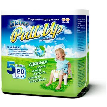 Трусики SkippyТрусики Skippy Pull Up XL (12-18 кг) 20 шт, в упаковке 20 шт., размер XL (BIG)<br><br>Штук в упаковке: 20<br>Размер: XL (BIG)