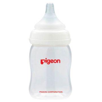 Бутылочка для кормления PigeonБутылочка для кормления Pigeon Перистальтик плюс с широким горлом 160 мл, размер с 1 мес., возраст 1 ступень (0-3 мес)<br><br>Размер: с 1 мес.<br>Возраст: 1 ступень (0-3 мес)