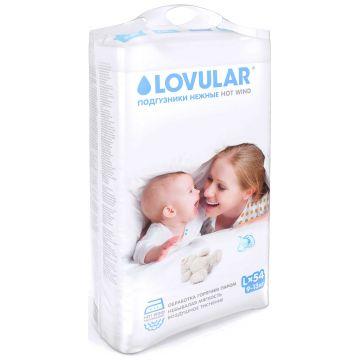 Подгузники LovularПодгузники Lovular Hot Wind размер L (9-13 кг) 54 шт, в упаковке 54 шт., размер L<br><br>Штук в упаковке: 54<br>Размер: L