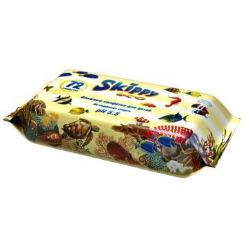 Влажные салфетки для детей SkippyВлажные салфетки для детей Skippy Eco 72 шт, в упаковке 72 шт.<br><br>Штук в упаковке: 72