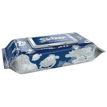 Влажные салфетки для детей SkippyВлажные салфетки для детей Skippy Premium 70 шт, в упаковке 70 шт.<br><br>Штук в упаковке: 70