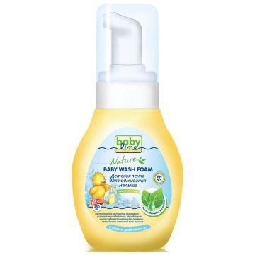 Пенка для подмывания малыша BabylineПенка для подмывания малыша Babyline Nature детская с растительными экстрактами, дозатор 280 мл<br>