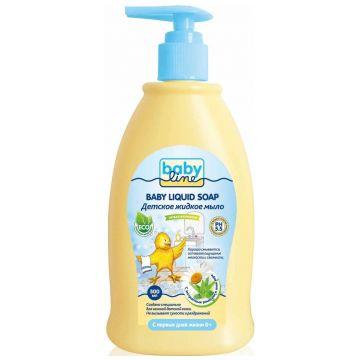 Жидкое мыло для детей BabylineЖидкое мыло для детей Babyline Nature с дозатором 500 мл<br>
