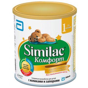 Молочная смесь SimilacМолочная смесь Similac Comfort 1 от 0 до 6 мес 375 г. Проконсультируйтесь со специалистом. Для детей 0-6 мес<br>