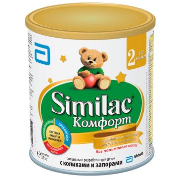 Молочная смесь SimilacМолочная смесь Similac Comfort 2 с 6 мес 375 г. Проконсультируйтесь со специалистом. Для детей с 6 мес.<br>
