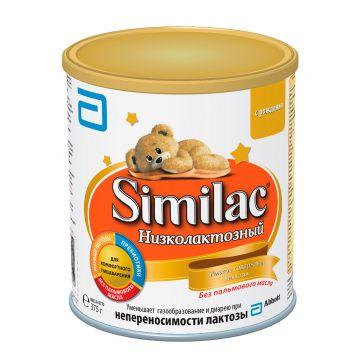 Молочная смесь SimilacМолочная смесь Similac Низколактозный с 0 мес 375 г. Проконсультируйтесь со специалистом. Для детей c 0 мес<br>