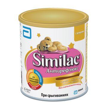 Молочная смесь SimilacМолочная смесь Similac Антирефлюкс с 0 мес 375 г. Проконсультируйтесь со специалистом. Для детей c 0 мес<br>