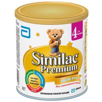 Молочная смесь SimilacМолочная смесь Similac 4 Premium с 18 месяцев 400 г. Проконсультируйтесь со специалистом. Для детей с 18 мес<br>