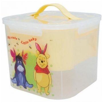 Контейнер для детских принадлежностей ToyMartКонтейнер для детских принадлежностей ToyMart Винни 7 л банановый 2824-Д<br>