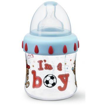 Бутылочка для кормления Bibi комфорт с широким горлышком с соской  and регулируемый поток and  Little Stars 150 мл