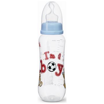 Бутылочка для кормления Bibi комфорт с широким горлышком с соской регулируемый поток Little Stars c 1 мес. 250 мл