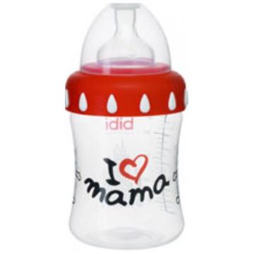 Бутылочка Bibi Mama/Papa с широким горлышком + соска регулируемый поток с 1 мес.  250 мл