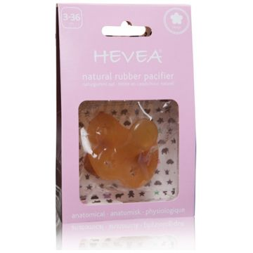 Пустышка Hevea из натурального каучука (латекса) Flower 3+ мес