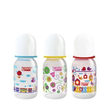Бутылочка для кормления Lubby Малыши и малышки от 0 мес. с соской 125 мл. полипропилен 12023