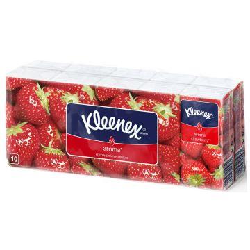 Бумажные носовые платочки Kleenex Клубника 1 шт