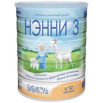 Молочная смесь Нэнни 3 на основе козьего молока с 12 мес 800 г