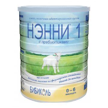 Молочная смесь Нэнни 1 с пребиотиками на основе козьего молока с рождения 800 г