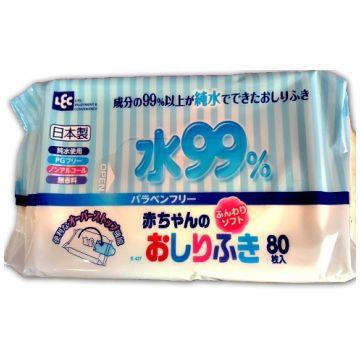 Влажные салфетки для новорожденных iPlus 99,9% воды 80 шт мягкая упаковка