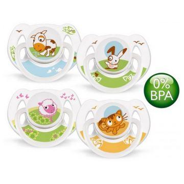 Пустышка Avent Домашние животные BPA-Free силикон 6-18 мес. (2 шт.)