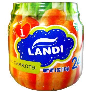 Детское пюре Landi органическое морковь с 4 мес 113 г