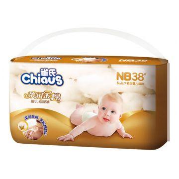 Подгузники Chiaus Chiaus Золотой хлопок размер NB (0-5кг) 38 шт