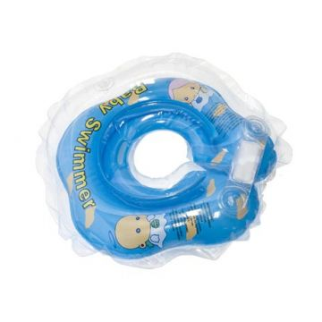 Надувной круг на шею для купания новорожденных BabySwimmer ГОЛУБОЙ