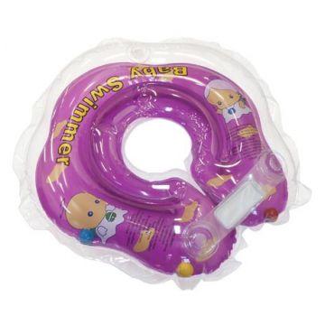 Надувной круг на шею для купания новорожденных BabySwimmer ФИОЛЕТОВЫЙ