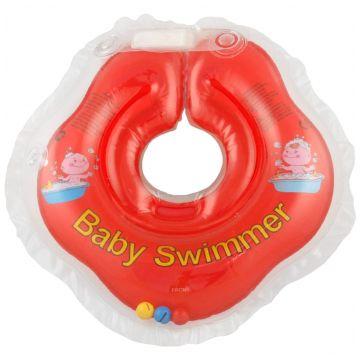 Надувной круг на шею для купания новорожденных BabySwimmer КРАСНЫЙ