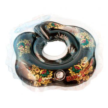 Надувной круг на шею для купания новорожденных BabySwimmer ЧЕРНЫЙ