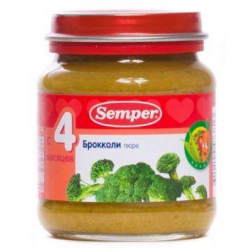 Пюре детское Semper брокколи 125 г с 4 мес.