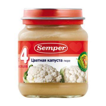Пюре детское Semper цветная капуста 125 г с 4 мес.