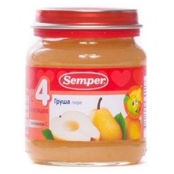 Пюре детское Semper груша 125 г с 4 мес.