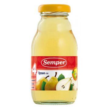 Сок Semper груша без сахара 1 ступень 200 мл