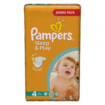 Подгузники Pampers Sleep  and  Play Maxi (7-14 кг) Джамбо упаковка 68 шт