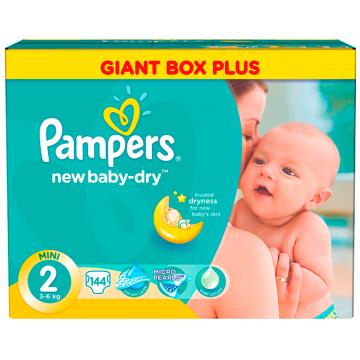 Подгузники Pampers New Baby Mini (3-6 кг) Малая Мега Упаковка 144 шт