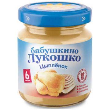 Детское пюре Бабушкино Лукошко цыпленок с 6 мес. 100 г