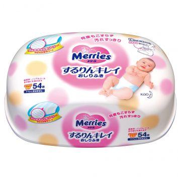 Влажные салфетки для детей Merries контейнер 54 шт.