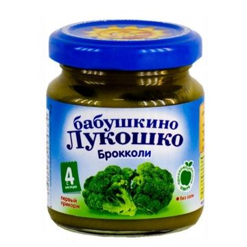 Детское пюре Бабушкино Лукошко капуста брокколи с 4 мес. 100 г