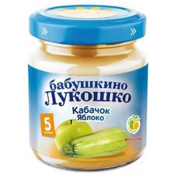Детское пюре Бабушкино Лукошко кабачок и яблоко с 5 мес. 100 г
