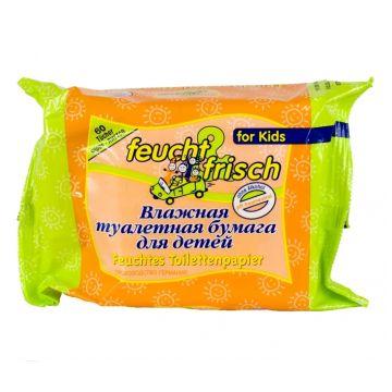Туалетная бумага для детей Babyline влажная 60 шт