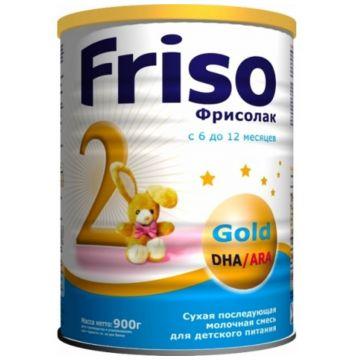 Молочная смесь Friso Фрисолак 2 Gold 6-12 мес. 900 г