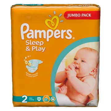 Подгузники Pampers Sleep  and amp; Play Mini (3-6 кг) Джамбо Упаковка 88 шт