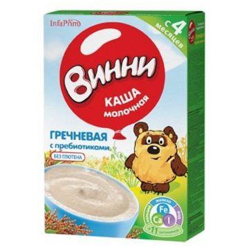 Каша Винни гречневая молочная с пребиотиками с 4 мес. 220 г