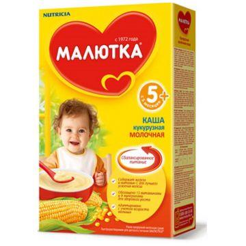 Каша Малютка, Nutricia Малютка кукурузная молочная с 6 мес. 220 г