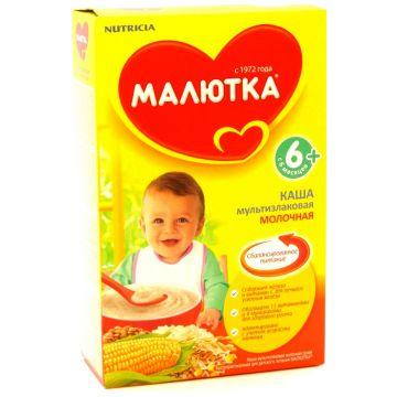 Каша Малютка, Nutricia Малютка мультизлаковая молочная с 6 мес. 220 г